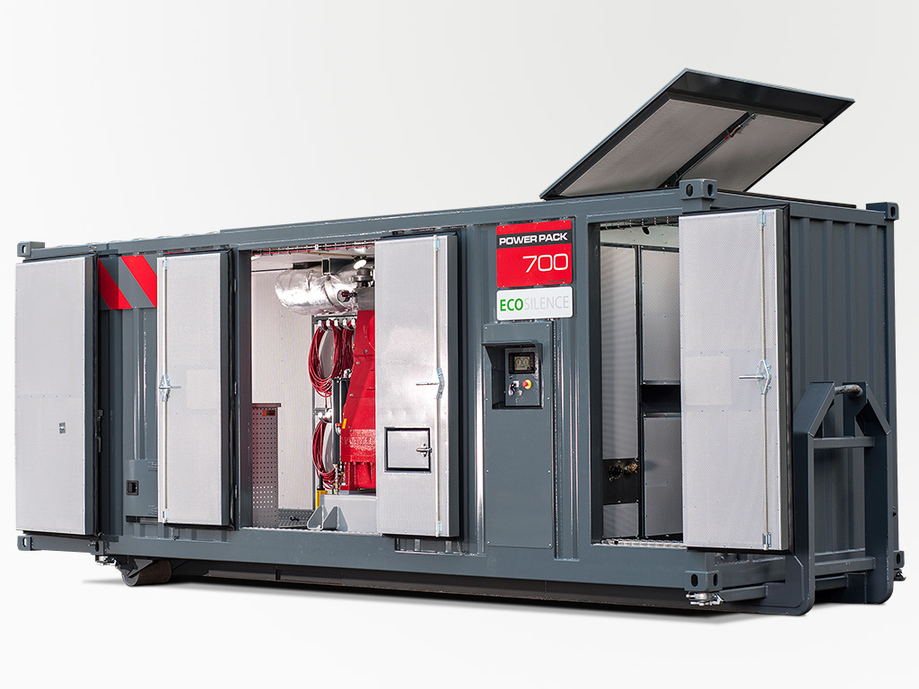 Power Pack Ecosilence doors open