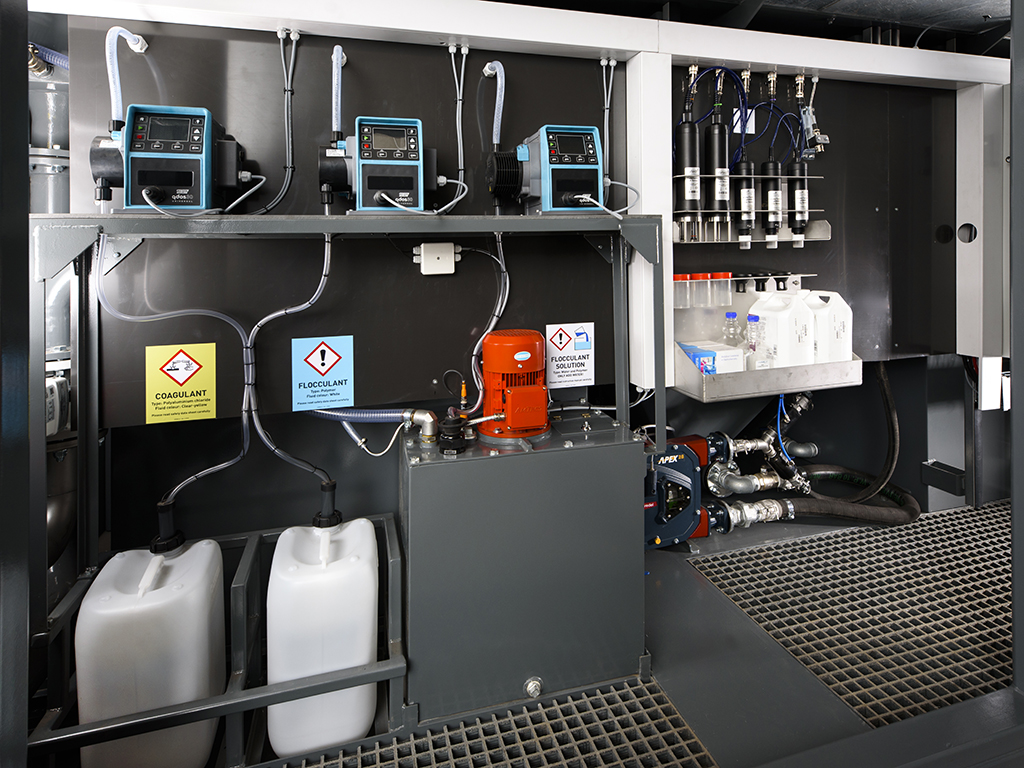 Ecoclear® Hydrodemolition Water Treatment System inside