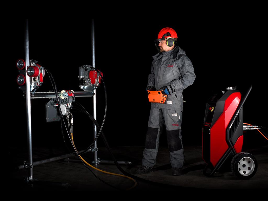Ergo Go Compact Hydrodemolition system