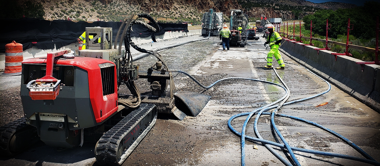 hydrodemolition aquajet systems aqua cutter work place renovation road