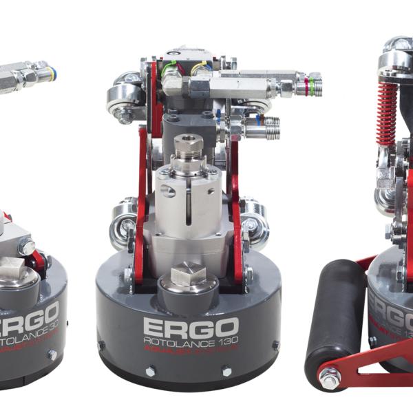 ergo rotolance x 3 ergo go aqua cutter aquajet hydrodemolition industrial cleaning refractoring