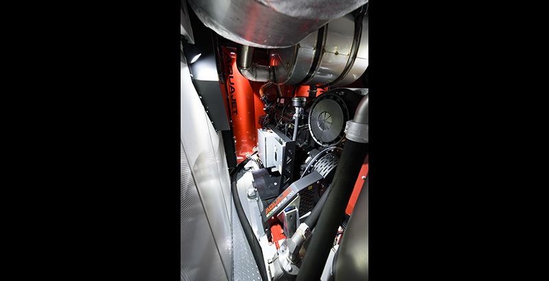 hydrodemolition high-pressure pump power pack service access