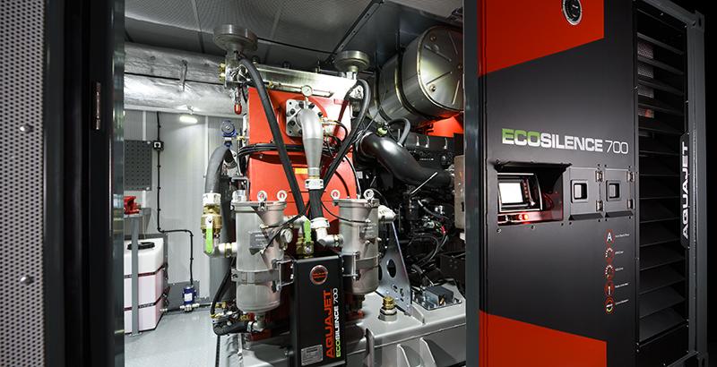 hydrodemolition high-pressure pump power pack