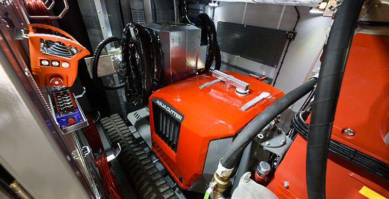 hydrodemolition high-pressure pump power pack aqua cutter robot storage