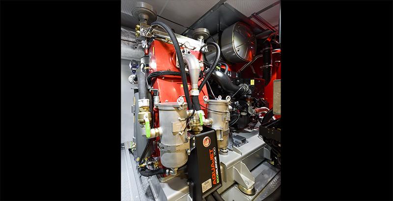 hydrodemolition high-pressure pump power pack skid mounted engine