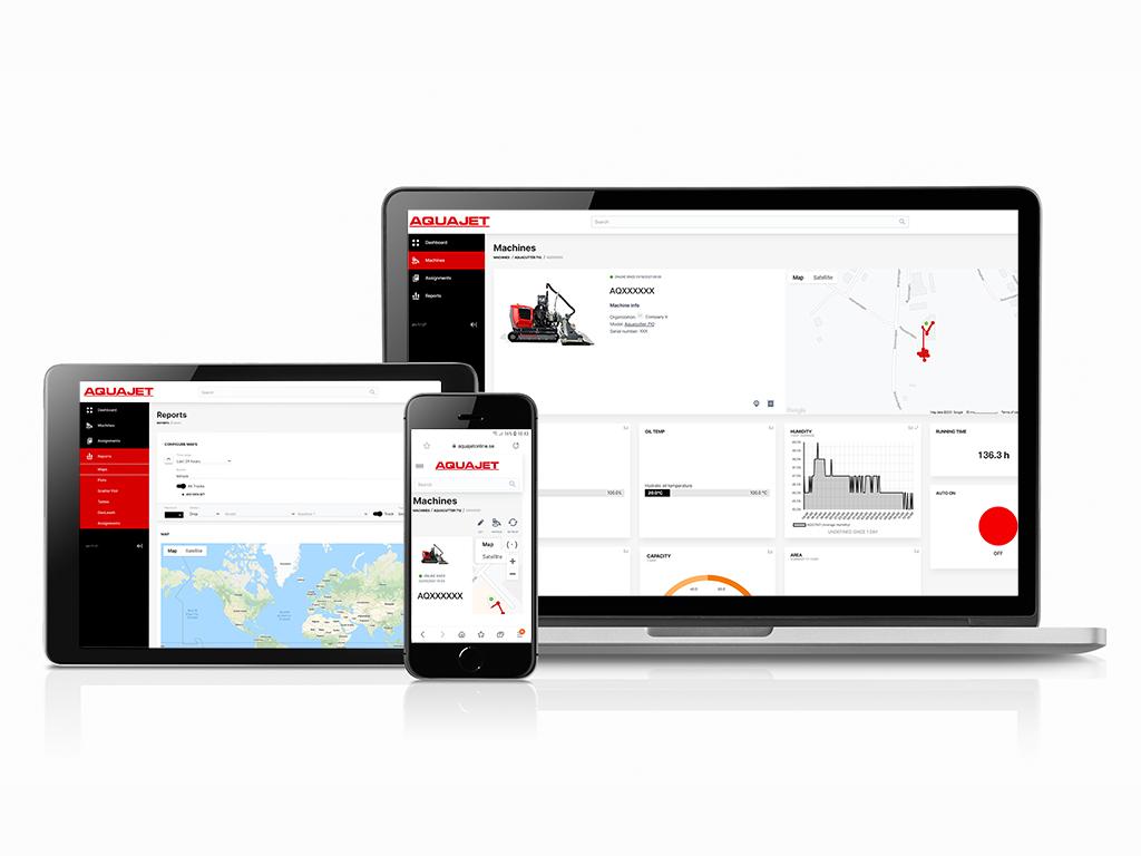 Aquajet Online Hydrodemolition Cloud-based Equipment Monitoring System