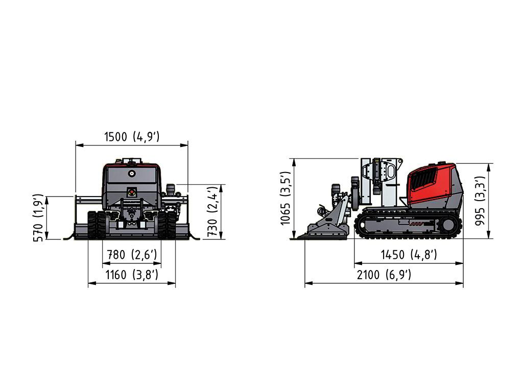 Aqua cutter 410A Hydrodemolition Robot specification