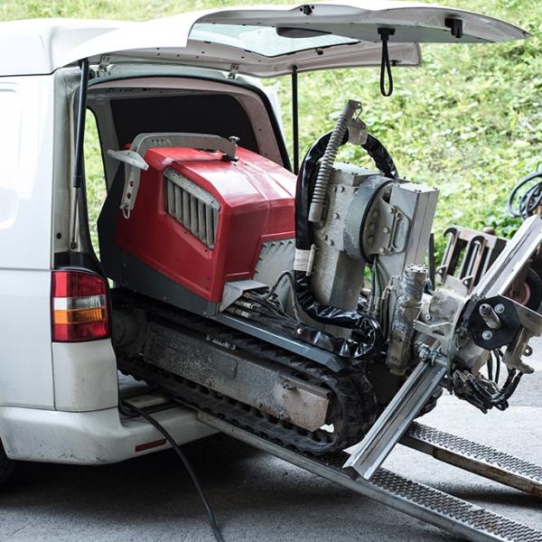 Aqua cutter 410A Hydrodemolition Robot transport
