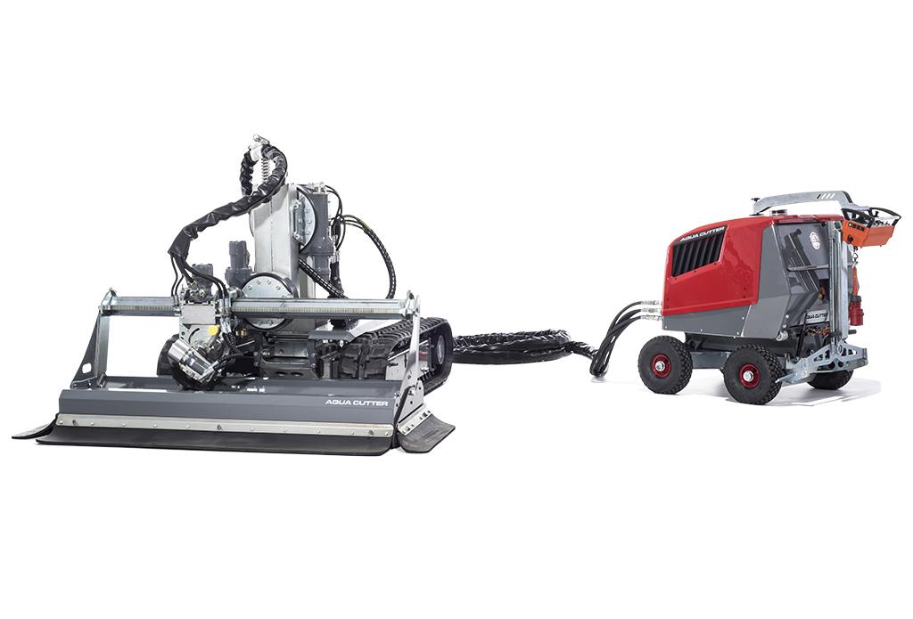 Aqua Cutter Hydrodemolition Robot Disconnectable PCM