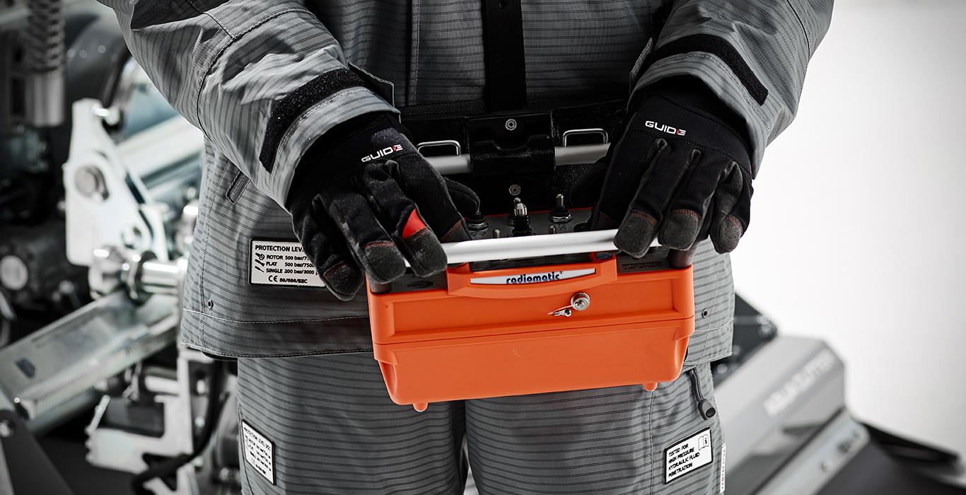 hydrodemolition aqua cutter radio remote control