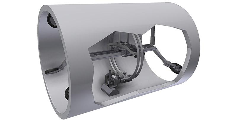 Aqua Spine Hydrodemolition Multi-Modular Support Rail adaptability