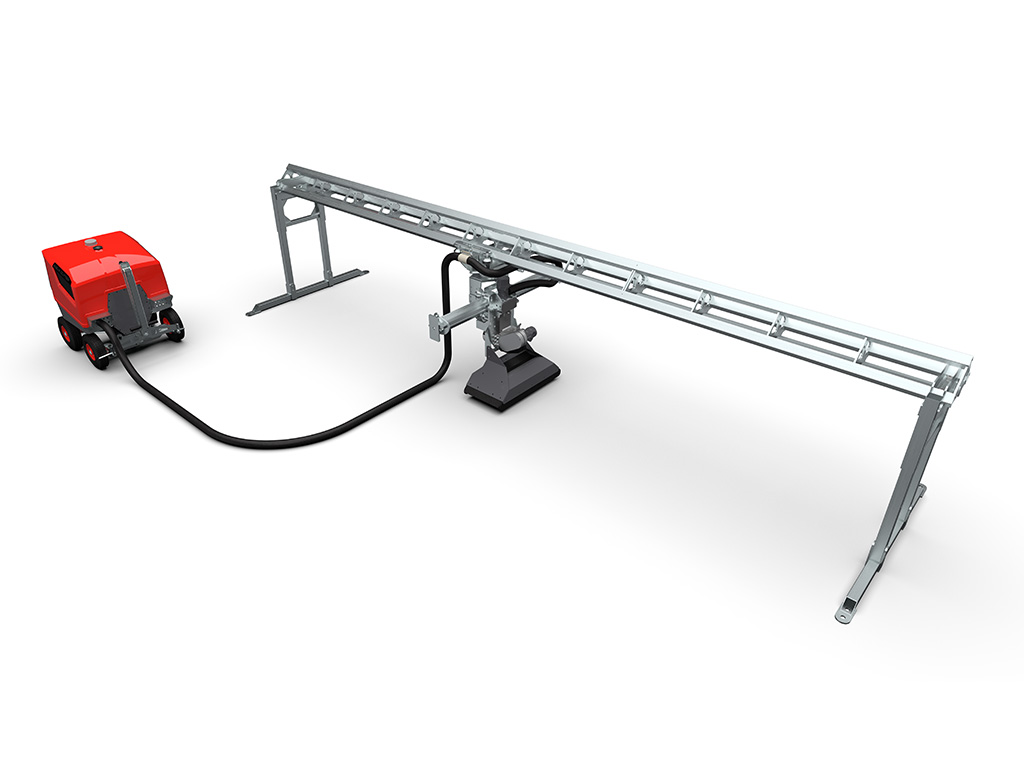 Aqua Spine Hydrodemolition Multi-Modular Support Rail and PCM carrier