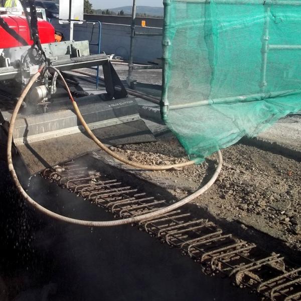 Aqua Cutter 710H Hydrodemolition Robot concrete bridge repair