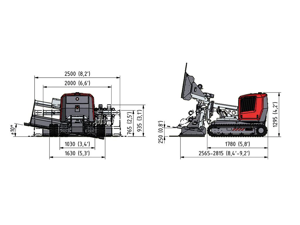 Aqua Cutter 710H Hydrodemolition Robot specification