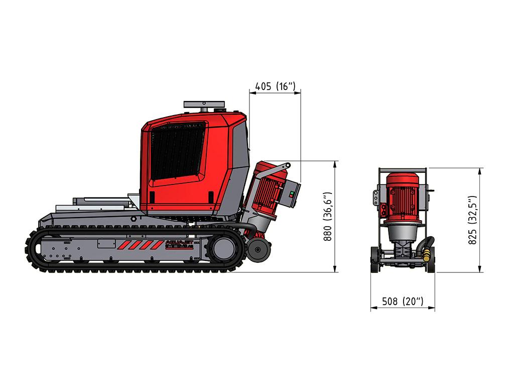 Aqua Cutter Hybrid Kit Hydrodemoliton Robot Accessory specifications