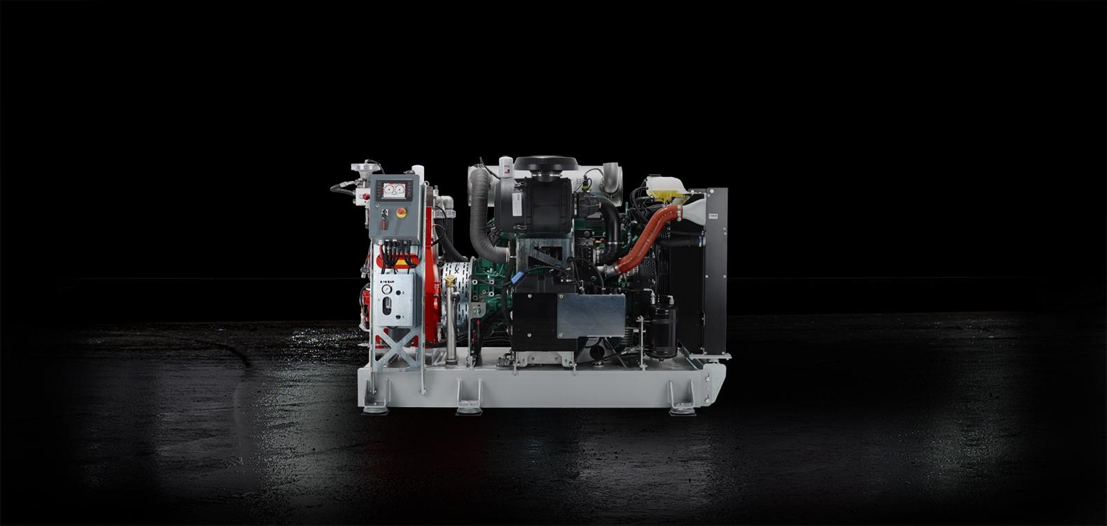 Hydrodemolition Skid-Mounted High-Pressure Pump