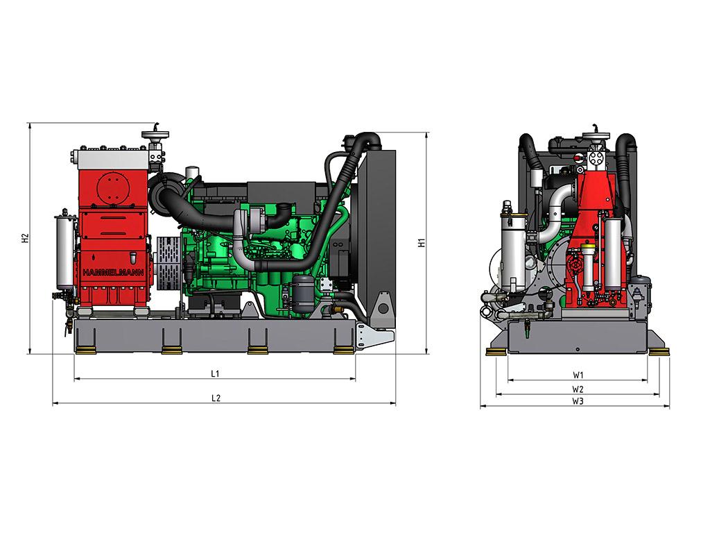 Hydrodemolition Skid-Mounted High-Pressure Pump specification