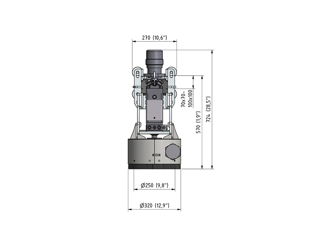 Rotolance LT Hydrodemolition Robot Accessory specification