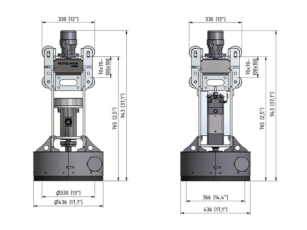 Rotolance Hydrodemolition Accessory specification