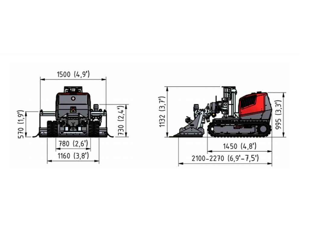 Aqua cutter 410V hydrodemolition robot specification