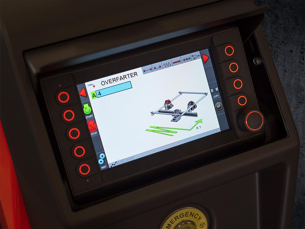 ERGO Controller Hydrodemolition Operating System Screen