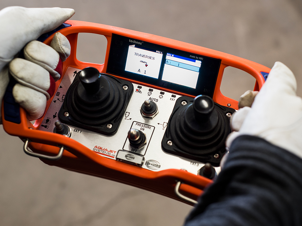 ERGO Controller Hydrodemolition Operating System Controller