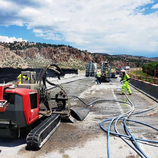 Aqua Cutter 710V Hydrodemolition Robot highway concrete repair