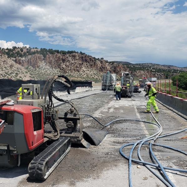 aqua cutter 710V aquajet hydrodemolition refractoring industrial cleaning bridge road