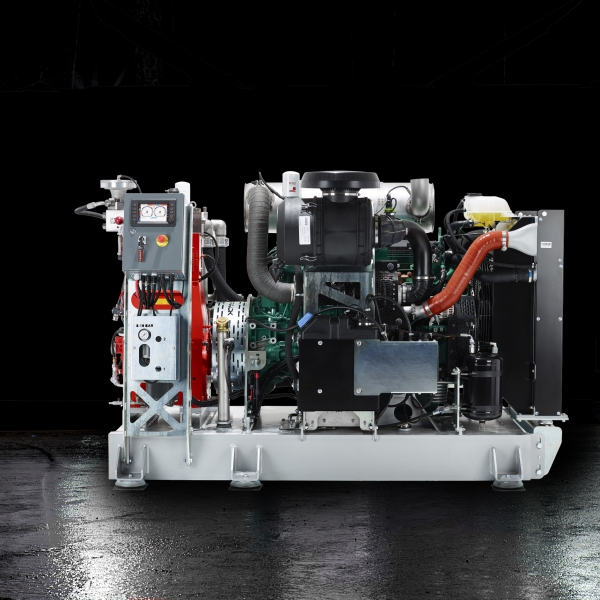 power pack SM skid mounted hydrodemolition industrial cleaning refractoring aquajet pump