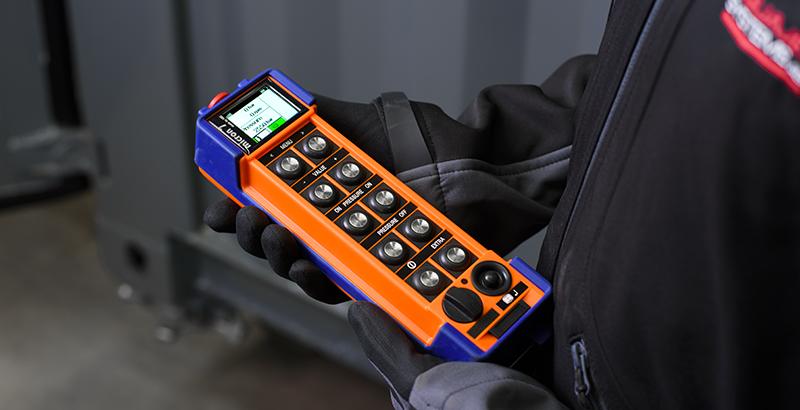 hydrodemolition high-pressure pump power pack radio remote
