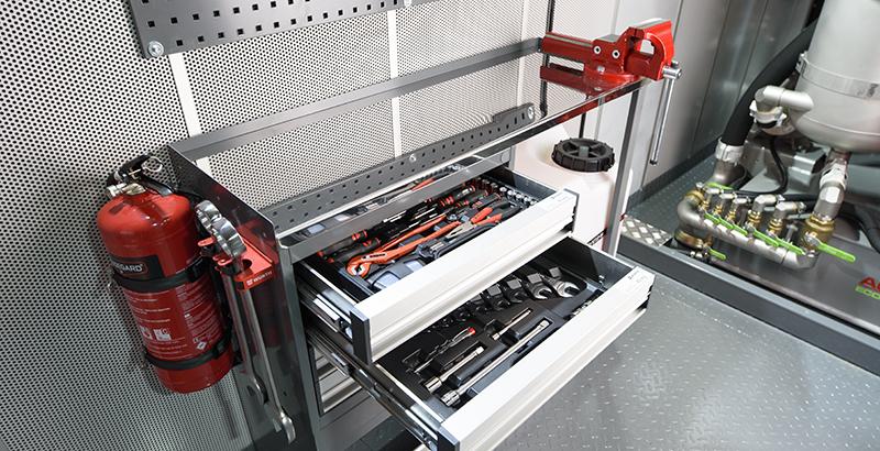 hydrodemolition high-pressure pump power pack work bench