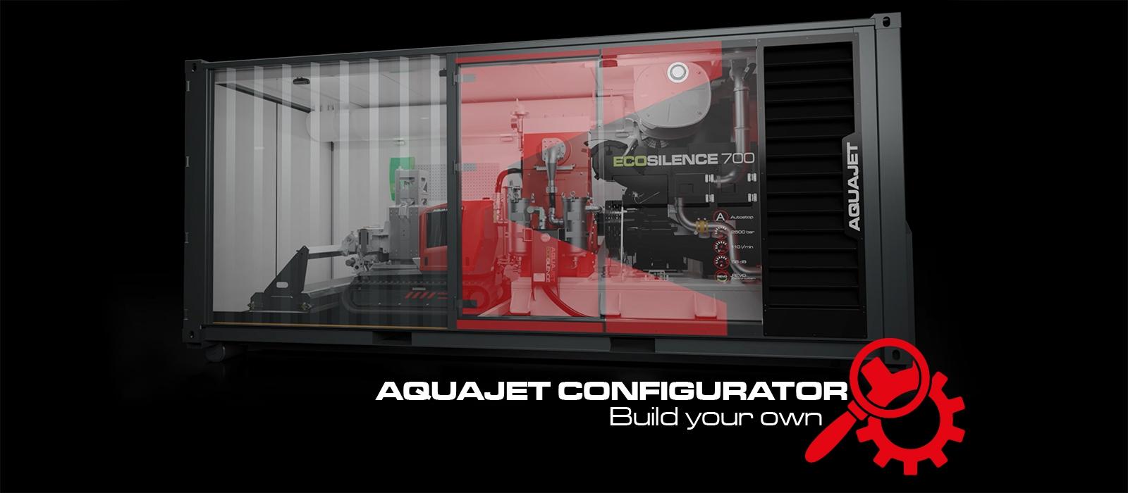 configurator aquajet build your own hydrodemolition ecosilence 3.0 equipment